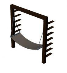 hammock with shelter designed 3d model .3dm format