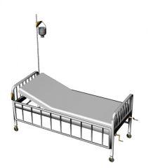 metal designed hospital bed wit a simple look 3d model .3dm format