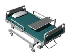 fully automated hospital bed 3d model .3dm format