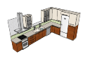 kitchen cabinet with brown under cabinet and with above cabinet skp