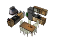 diseño de cocina con mesa comedor (tiene pan y leche) skp
