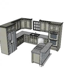 cucina di design con bar indipendente skp