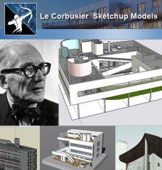 24種類のLe Corbusier Architecture Sketchup 3Dモデル(推奨!)
