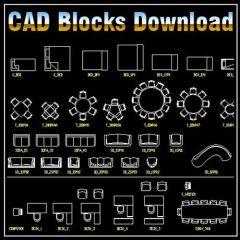 インテリアデザイン2Dブロックバンドル