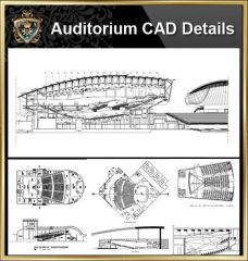 ★ 【Auditorium CAD-Zeichensammlung】