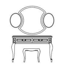 机の立面図.dwg図面を作成する