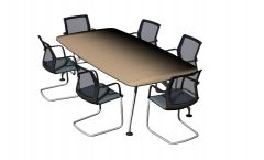 Small designed meeting table 3d model .3dm format