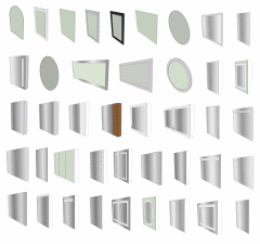 Зеркала и зеркальные шкафы Коллекция моделей Sketchup skp