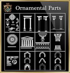 ★ 【Partes ornamentales de edificios 2】 ★