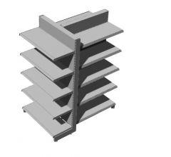 modern designed newspaper stand 3d model .3dm format