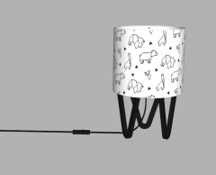 Table lamp with animal shape sketchup
