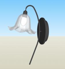 Wall single light sketchup
