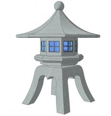 Stone pagoda lamp sketchup