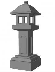 Cement pagoda light sketchup