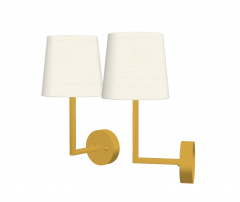 Wall mounted lamp with golden frame sketchup
