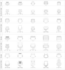 Office Chairs CAD collection dwg