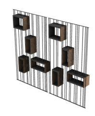 modern partition wall design 3d model .3dm format