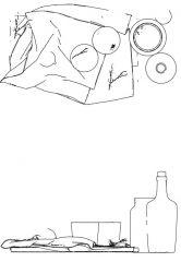 Picnic set simple dwg drawing