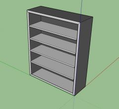 professional rack designed with a simple look 3d model .skp format
