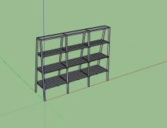 metal designed professional rack 3d model .skp format