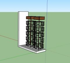professional rack designed with a modern aesthetic look 3d model .skp format