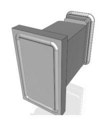 Прямоугольные зажимные присоски Autocad 3d file
