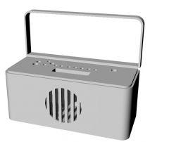 handy radio design with antenna 3d model .3dm format