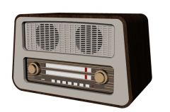 Modern designed radio with two stero speakers 3d model .3dm frormat