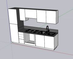 simple looking designed restaurant 3d model .skp format