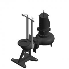 series sewage pump-Z revit family