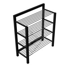 small shoe rack with three shelves designed 3d model .3dm fromat