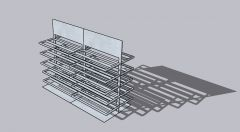 small sized shoe trestle with a modern look 3d model .skp format