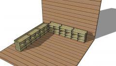 wooden shelves shoe trestle design with a simple look 3d model .skp format