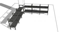 metal large scale designed shoe trestle 3d model .skp format