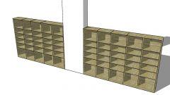 shoe trestle with a wooden design 3d moedel .skp format