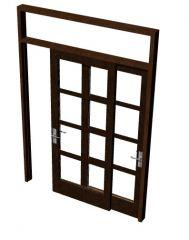 single sliding patio door design 3d model .3dm format