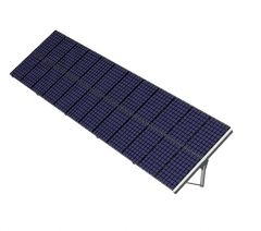 large scaled solar panel designed with stand 3d model .3dm format