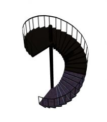 modern aesthetic designed spiral staircase 3d model .3dm format