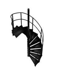simple small tred designed spiral staircase 3d model .3dm format