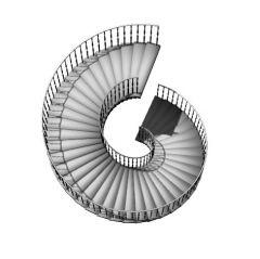 large tred designed spiral staircase 3d model .3dm format