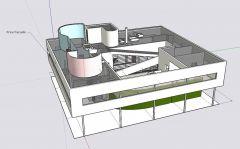 ★Sketchup 3Dアーキテクチャモデル-Villa Savoye(Le Corbusier)
