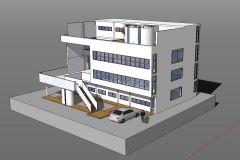 ★Sketchup 3Dアーキテクチャモデル-Villa Stein(Le Corbusier)