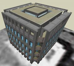 ★Sketchup 3Dアーキテクチャモデル-Exeter Library(Louis Kahn)