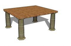 Modern design large scale stanchion 3d model .skp format