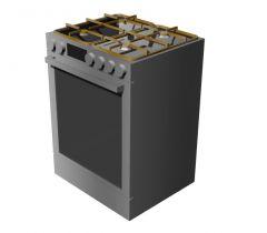 Kitchen stove designed with drop door oven 3d model .3dm format