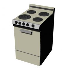 wire meshed display oven with attached kitchen stove design 3d model .3dm format