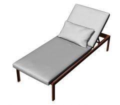 modern aesthetic designed sun lounger 3d model .3dm format
