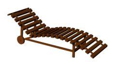 wooden design modern look sun lounger 3d model .3dm format