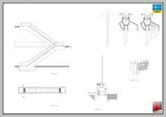 SEZIONE ESCALATORE, PIANO E ELEVAZIONE VIES-AUTOCAD-2D