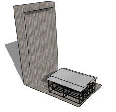 Modern designed gazebo table top 3d model .skp format